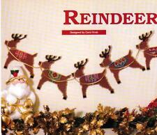 REINDEER GARLAND CHRISTMAS PLASTIC CANVAS PATTERN INSTRUCTIONS