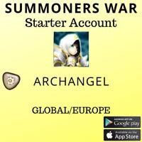 Summoners War Light Archangel Artamiel Starter Account