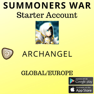 Summoners War Light Archangel Artamiel Starter Account