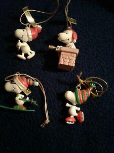 Peanuts Snoopy Miniature Christmas Ornaments Kurt S. Adler Collection 4 Ornament
