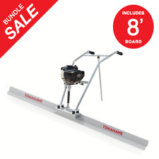 Power Screed Concrete Finishing Float 8ft Blade Board 377cc Gas Vibrating Tool