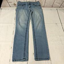 Forever 21 Women Jeans Size 28 Blue Denim Straight Leg A181 -10