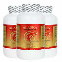 3 X 300 Alaska Deep Sea Omega-3 Fish Oil =900Caps, EPA/DHA, FRESH, FREE SHIPPING