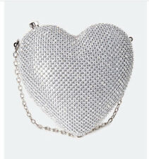 alli rhinestone heart minaudiere Cocktail Bag Fancy Purse (MSRP$44)
