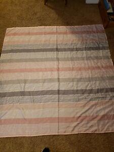 HD Design Pink & Gray Stripe Shower Curtain