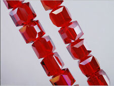 Loose Mixed 50pcs Charms Cube Glass Crystal Rondelle Finding Spacer Beads 6x6mm