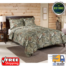 Mossy Oak Bedding Set Camo Comforter Wood Tan Shams Bed In A Bag Queen Size