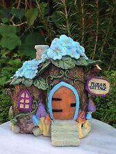 Miniature Dollhouse FAIRY GARDEN ~ Fairytale Hydrangea Flower Cottage House NEW