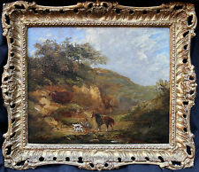 CONSTABLE circle BRITISH VICTORIAN LANDSCAPE OIL PAINTING ART CHRISTIES PROVENAN