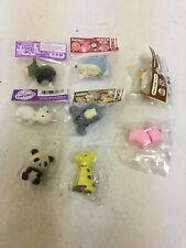 Bundle Of 8 Iwako Japanese Novelty Animal Erasers Rubbers New