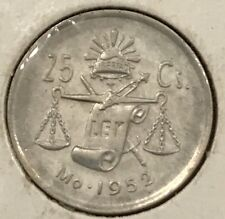 Mexico 1952, 25 Centavos, 30% Silver F.coin