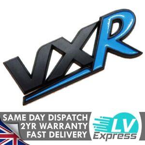 Black & Blue Car Badge For VXR Tailgate Boot Upgrade Non Chrome