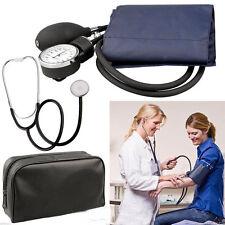 Blood Pressure Cuff Stethoscope Meter Gauge Aneroid Sphygmomanometer Travel RT