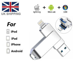 1TB USB 3.0 Flash Drive External Memory Stick For iPhone 6 7 8 Plus X 11 12 iPad