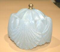 Antique 1930 Art Deco Pink Shell Ballet Slipper Pattern Glass Boudoir Lamp Shade