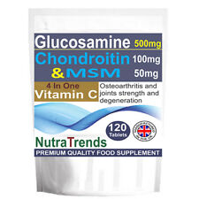 Glucosamine, Chondroitin ,MSM ,Vitamin C, total Joints Care 120 Tabs UK Made
