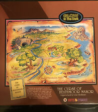 Bits & Pieces 1000 Puzzle THE CURSE OF HEATHMOOR MANOR Glow in the Dark w/book++