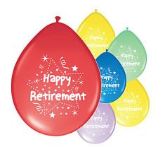 "10 x HAPPY RETIREMENT BALLOONS 10"" RETIREMENT MIX PARTY BALLOONS (PA)"