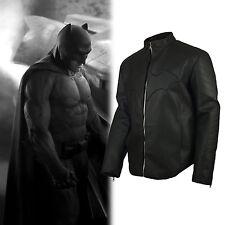 Superman Vs Batman Movie Simple Batman Embossed Street real Leather Jacket