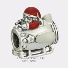 Authentic Pandora Sterling Silver Enamel Santa in Space Bead 797511ENMX