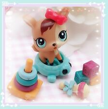 Authentic Littlest Pet Shop #3584 Brown Baby Deer Tan Fawn LPS RARE accessories