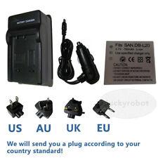 Battery+charger for Sanyo DB-L20 Xacti DMX-CG6 DSC-C4 DMX-C1 Xacti DSC-J4 new