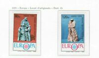 S30960a) Turkish Cyprus 1976 MNH Europa, Ceramic Statues 2v