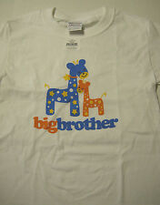 Big Brother Giraffee T-Shirt, White, Prewashed, Size Extra Small  (2-4), New
