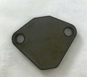 Small block Mopar / Dodge / Plymouth EGR block-off plate 318 360 unpainted