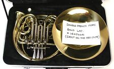 Seller Refurbished Double French Horn Gold Lacquer Finish with Case