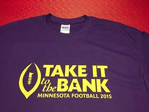 MINNESOTA VIKINGS TAKE IT TO THE BANK T-SHIRT 2015 NFL PLAYOFFS GOOD AS GOLD