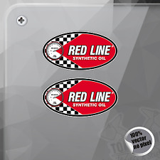 PEGATINA RED LINE SYNTHETIC OIL DECAL STICKER AUFKLEBER AUTOCOLLANT