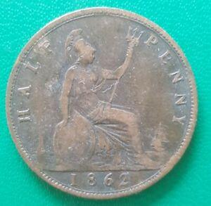 1862 Half Penny Victoria Coin