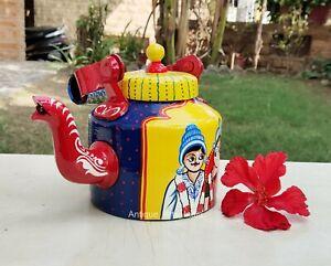 Hand Painted Tea Kettle Wedding Theme Tea Pot Gifting Holidays Decorative Items