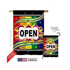 New listing Breeze Decor Merchant Open 2-Sided Vertical Impression House Flag 28 x 40 in.