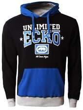Ecko Mens Anthracite Grey Blue Relay Hoodie Long Sleeve Hoody [ESK03379]