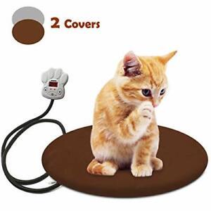 FOCHEA Pet Heating Pad Waterproof Electric Heating Pad Adjustable Warming Mat M