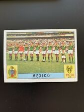 MEXICO TEAM - UNUSED PANINI MEXICO 70 WORLD CUP RED/BLACK CARD 1970