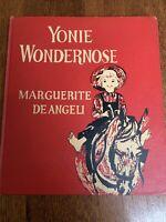Yonie Wondernose - 1944 HC First Edition By Marguerite de Angeli  Vintage