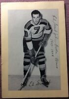 *AUTOGRAPHED* Ed SANDFORD 1944-63 GROUP 2 🐝 BEEHIVE PHOTO ~ BOSTON BRUINS ~ VG