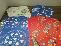 Vintage Christmas Snow Wrapping Paper  Save The Children Federation  31 Sheets