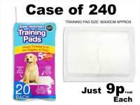 Puppy Training Pads Bulk Deal Case of 240 Super Absorbent Premium Stock 60x45cm