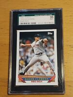 1993 Topps Roger Clemens Ultra Rare Blank Back SGC Graded and Authenticated