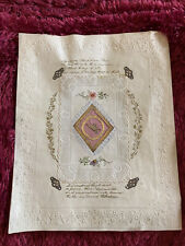 More details for antique victorian paper lace large valentines card