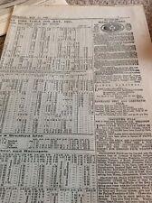 M8-3 Ephemera 1885 Train Times May 1885 Leeds North Railways Rail Steam