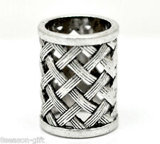 2PCs Silver Tone Bail Beads for Wrap Scarf (Hole Size:17mm)