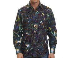 Robert Graham LIMITED EDITION Water Color Effect Embroidered Rare Mens XL NEW