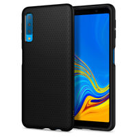 Galaxy A7 (2018) Spigen® [Liquid Air] Matte Black Slim TPU Protective Cover Case