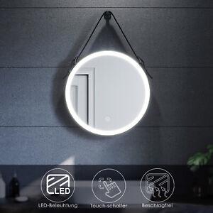 Badspiegel Rund LED mit Beleuchtung Touch & Beschlagfrei Badezimmerspiegel 60cm