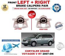 FOR CHRYSLER GRAND VOYAGER 2007-->NEW 2x FRONT LEFT + RIGHT BRAKE CALIPERS SET